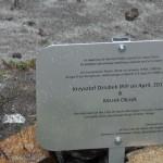 Tablica pamięci Krzysztofa Dziubka pod Cerro Torre