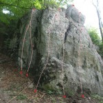 Nowa skała w Karniowicach: Trybuna A